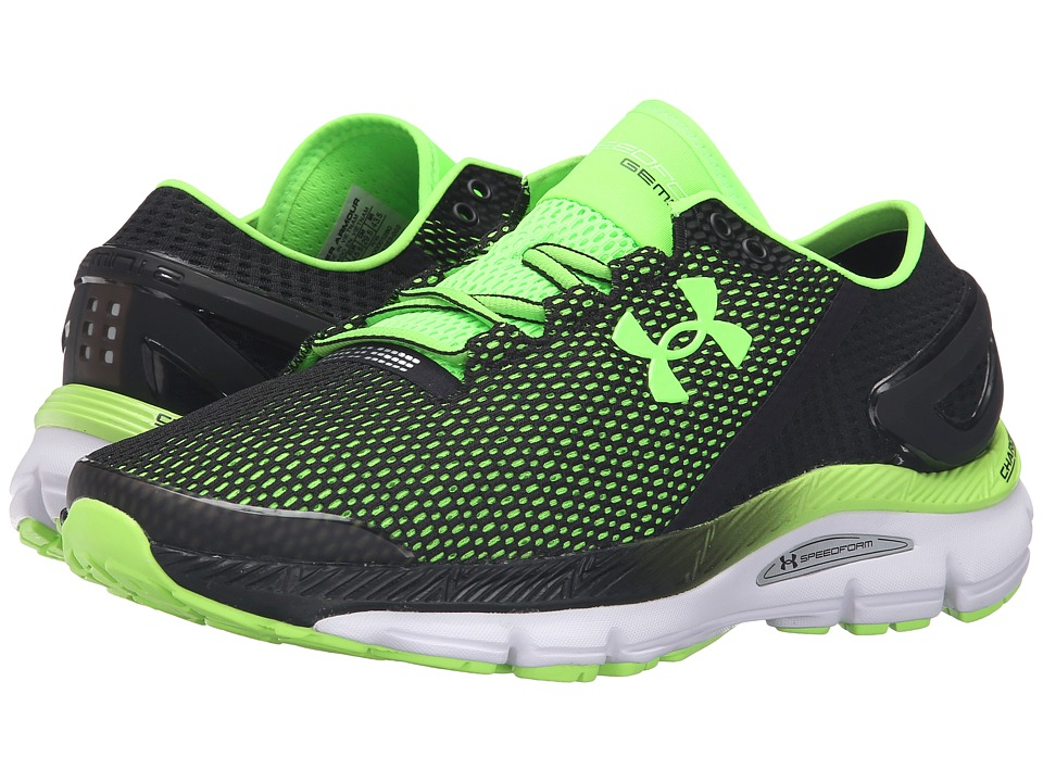 Under Armour - UA Speedform Gemini 2.1 (Black/White/Hyper Green) Men's Running Shoes