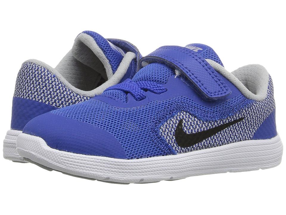 Nike Kids - Revolution 3 (Infant/Toddler) (Game Royal/Wolf Grey/White/Black) Boys Shoes