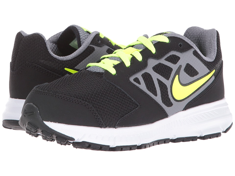 Nike Kids - Downshifter 6 (Little Kid/Big Kid) (Black/Cool Grey/Rio Teal/Volt) Boys Shoes