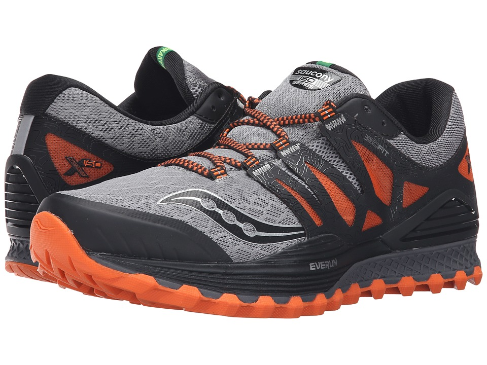 Saucony - Xodus ISO (Grey/Orange/Black) Men's Running Shoes