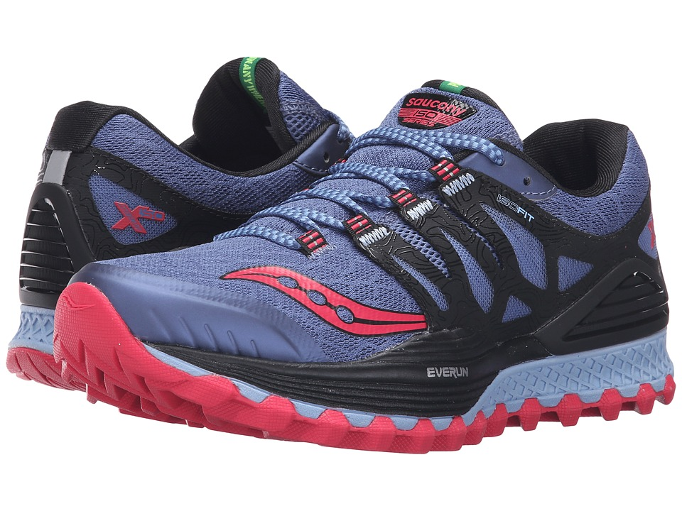 Saucony - Xodus ISO (Denim/Black/Pink) Women's Running Shoes