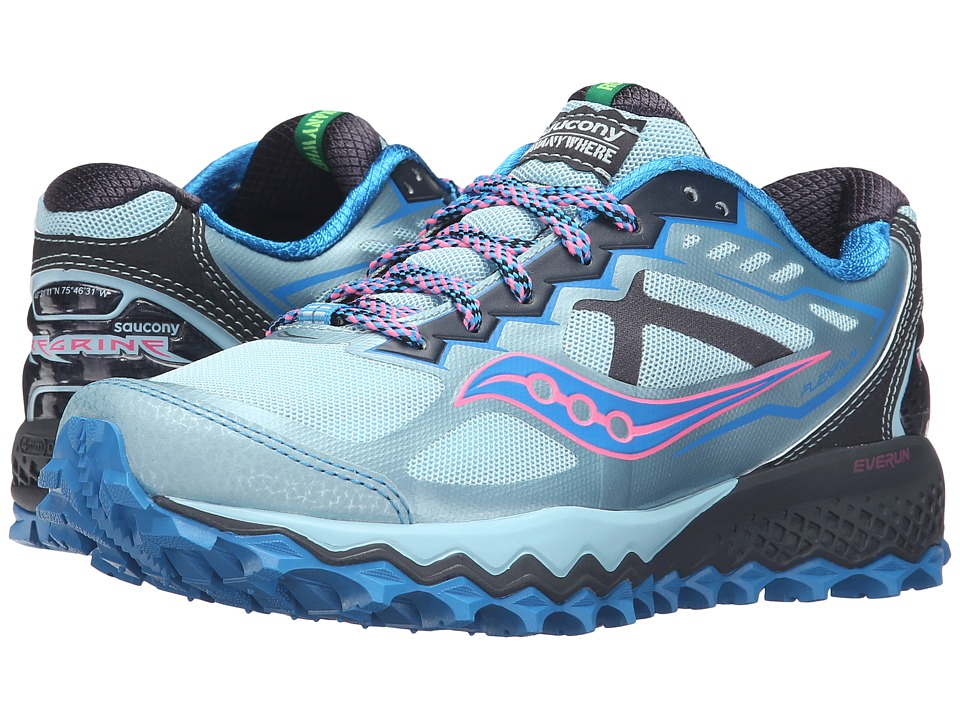 Saucony - Peregrine 6 (Sky/Blue/Pink) Women's Shoes