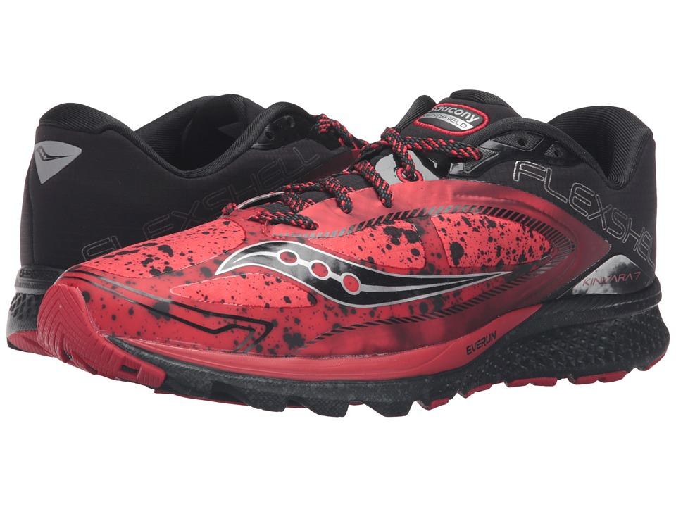 Saucony - Kinvara 7 Runshield (Red/Black/Silver) Men's Running Shoes