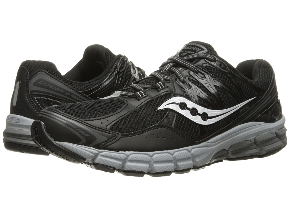 Saucony - Lancer 2 (Black/Grey) Men's Running Shoes