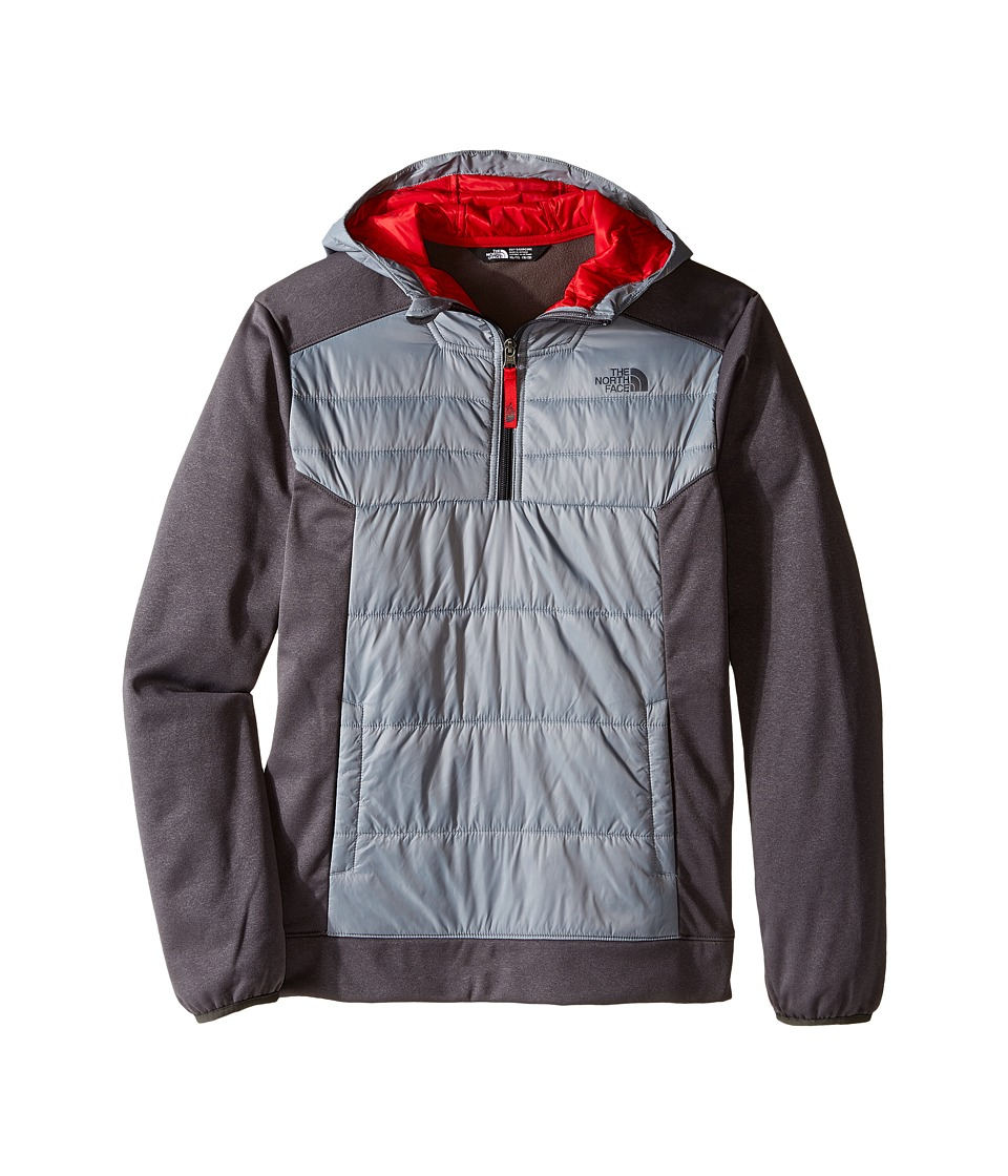 The North Face Kids - Mak 1/4 Zip Hoodie (Little Kids/Big Kids) (Mid Grey) Boy's Sweatshirt