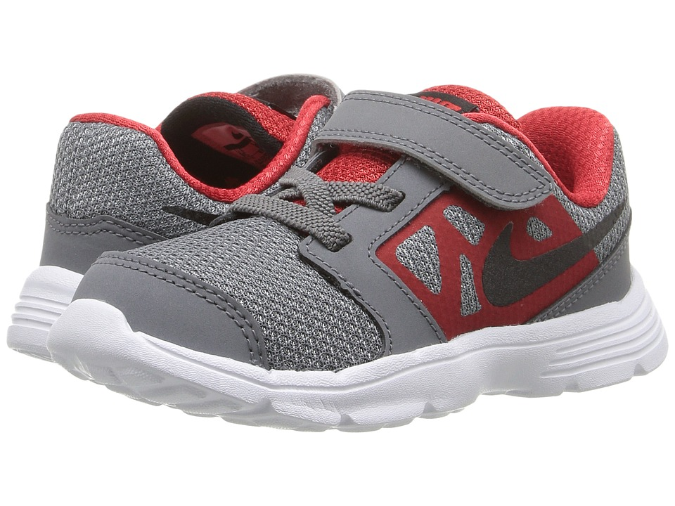Nike Kids - Downshifter 6 (Infant/Toddler) (Cool Grey/University Red/White/Black) Boys Shoes