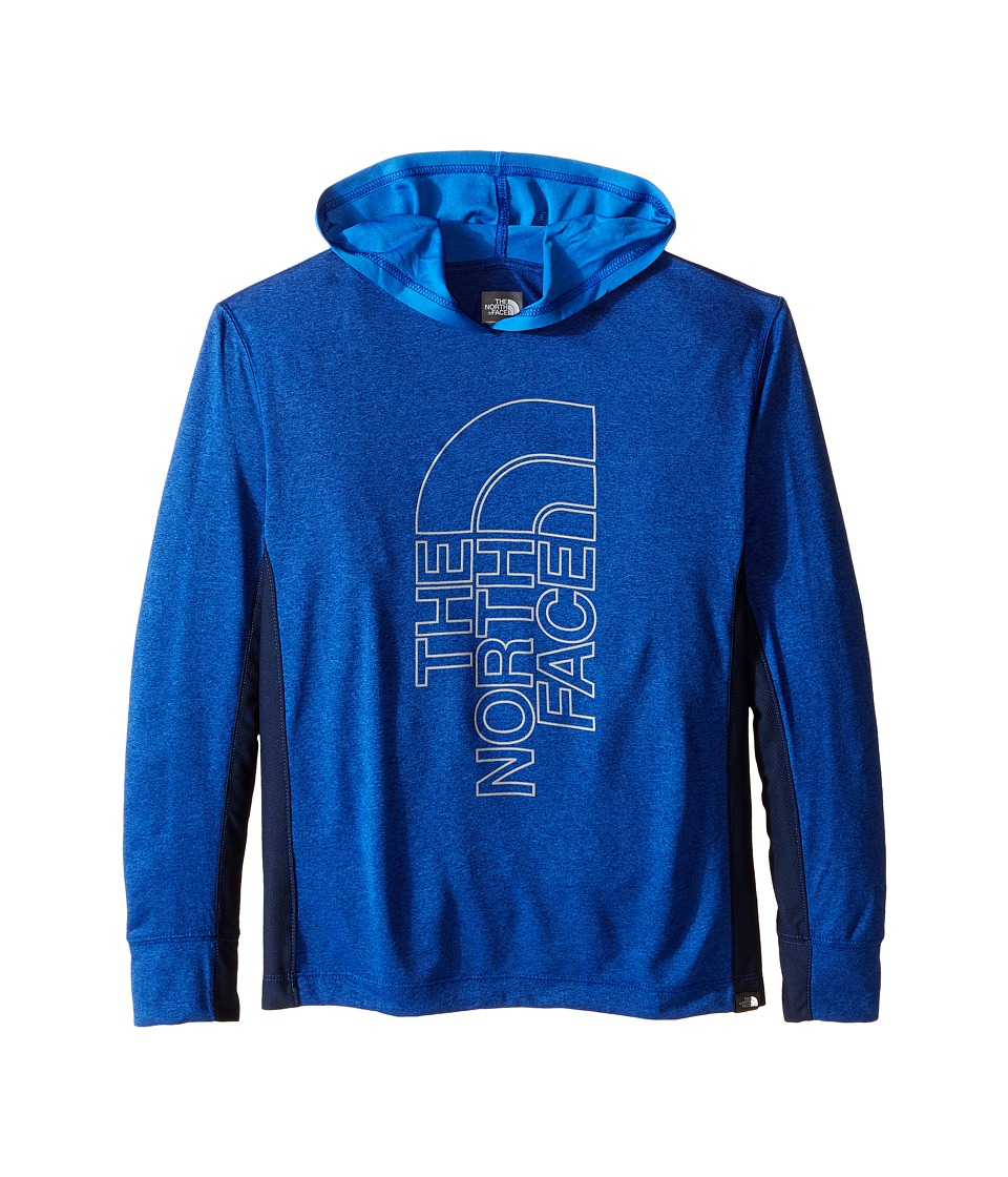 The North Face Kids - Long Sleeve Reactor Hoodie (Little Kids/Big Kids) (Honor Blue Heather) Boy's Sweatshirt