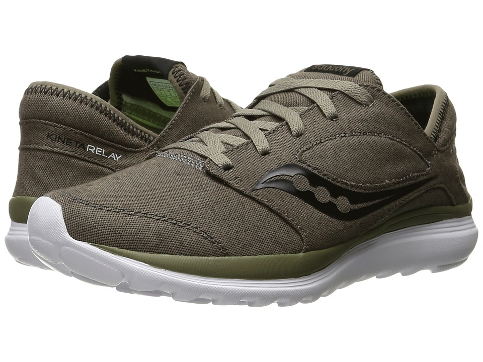 Saucony - Kineta Relay (Brown/Canvas) Men's Running Shoes