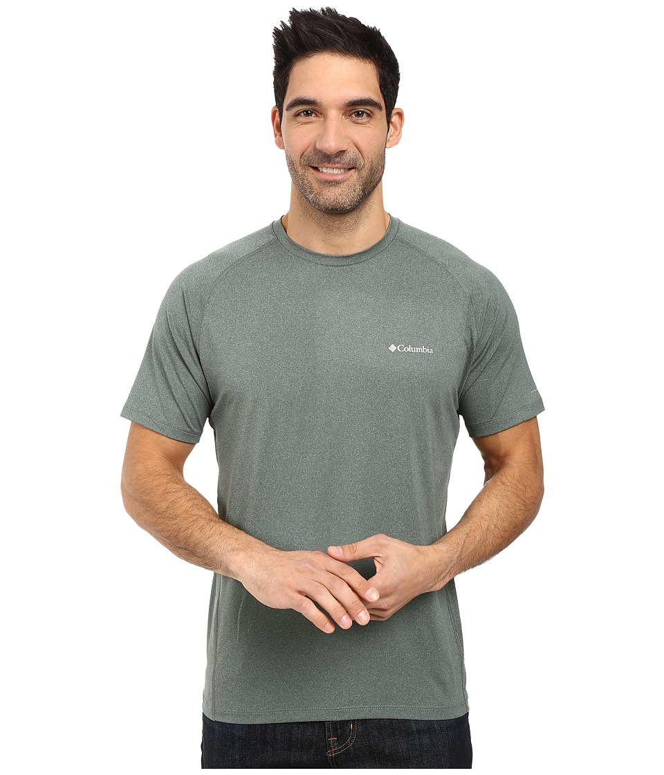 Columbia - Tuk Mountain Short Sleeve Shirt (Pond Heather) Men's T Shirt