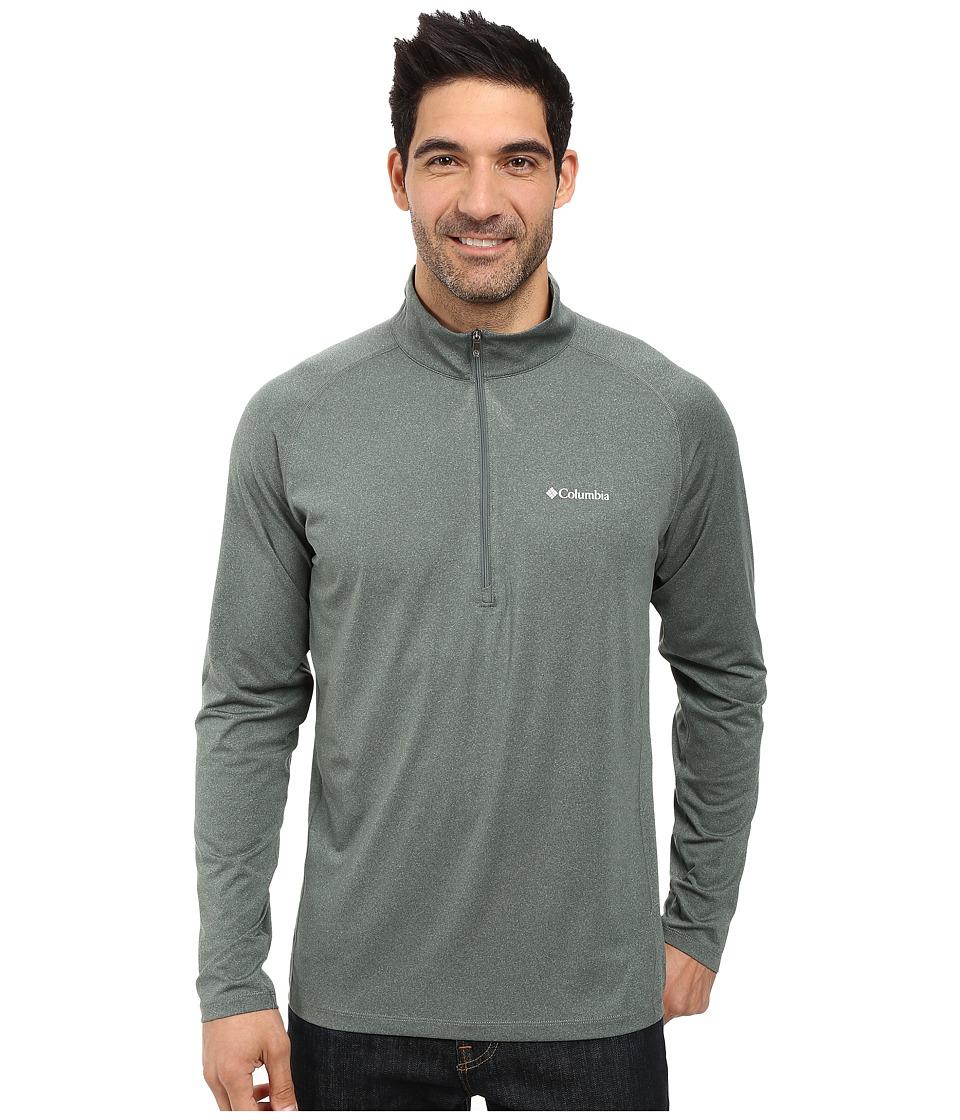 Columbia - Tuk Mountain Half Zip (Pond Heather) Men's Long Sleeve Pullover