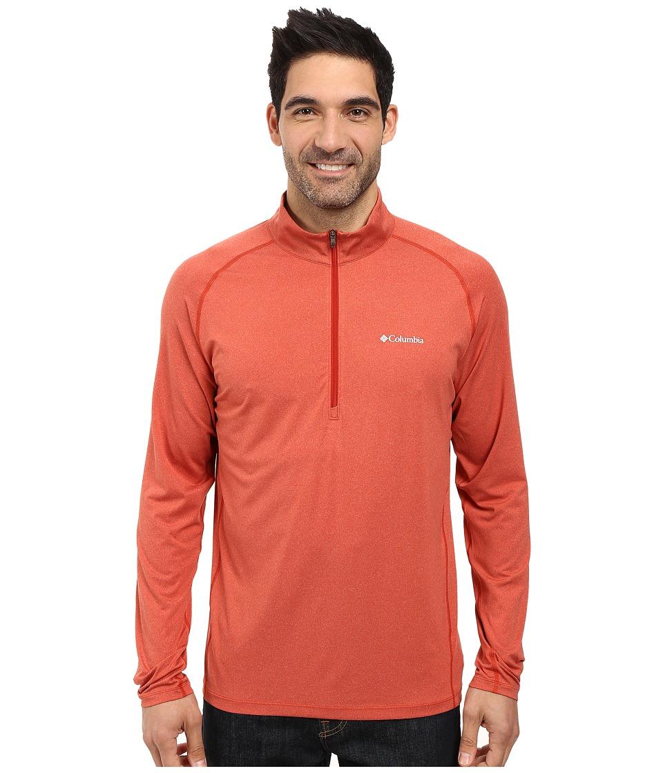 Columbia - Tuk Mountain Half Zip (Rust Red Heather) Men's Long Sleeve Pullover
