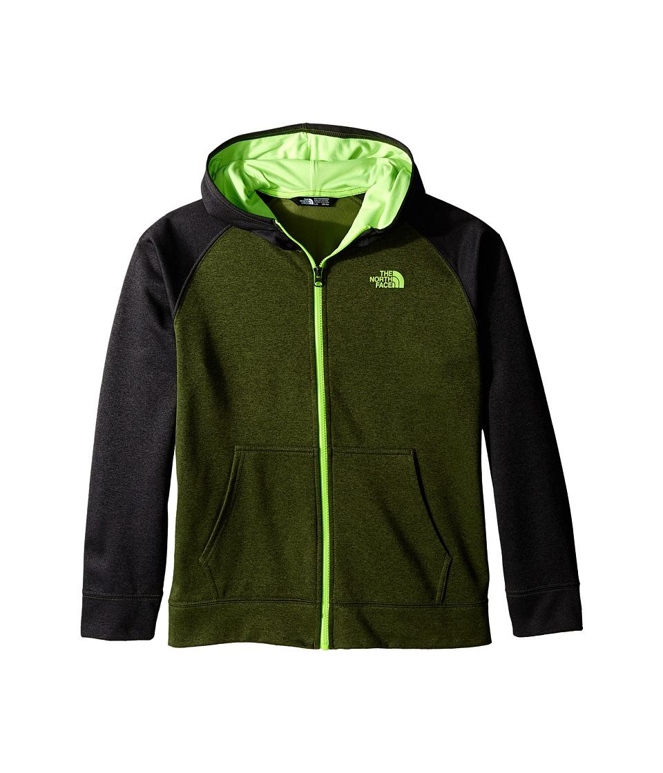 The North Face Kids - Surgent Full Zip Hoodie (Little Kids/Big Kids) (Terrarium Green Heather) Boy's Sweatshirt