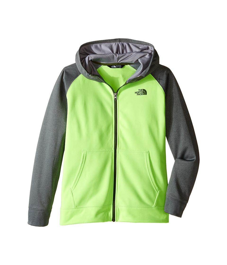The North Face Kids - Surgent Full Zip Hoodie (Little Kids/Big Kids) (Safety Green) Boy's Sweatshirt