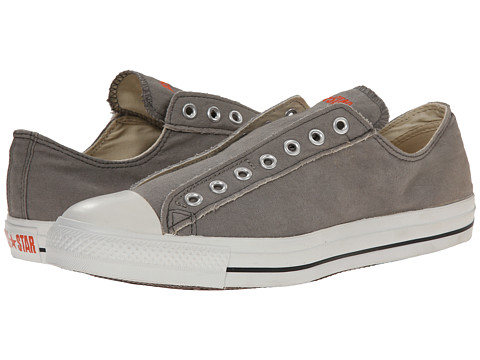 Converse Kids - Chuck Taylor All Star Core Slip (Little Kid) (Charcoal/White) Kids Shoes