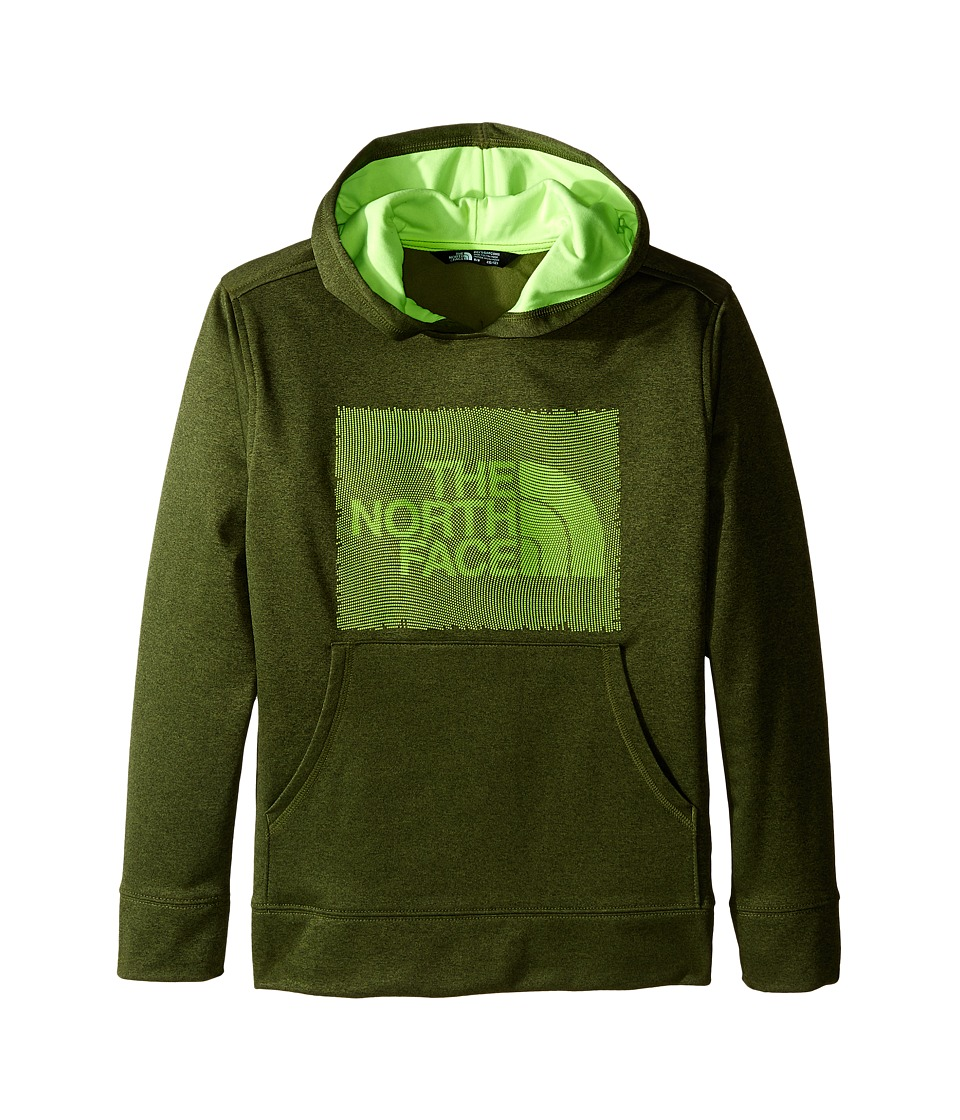 The North Face Kids - Surgent Pullover Hoodie (Little Kids/Big Kids) (Terrarium Green Heather) Boy's Sweatshirt
