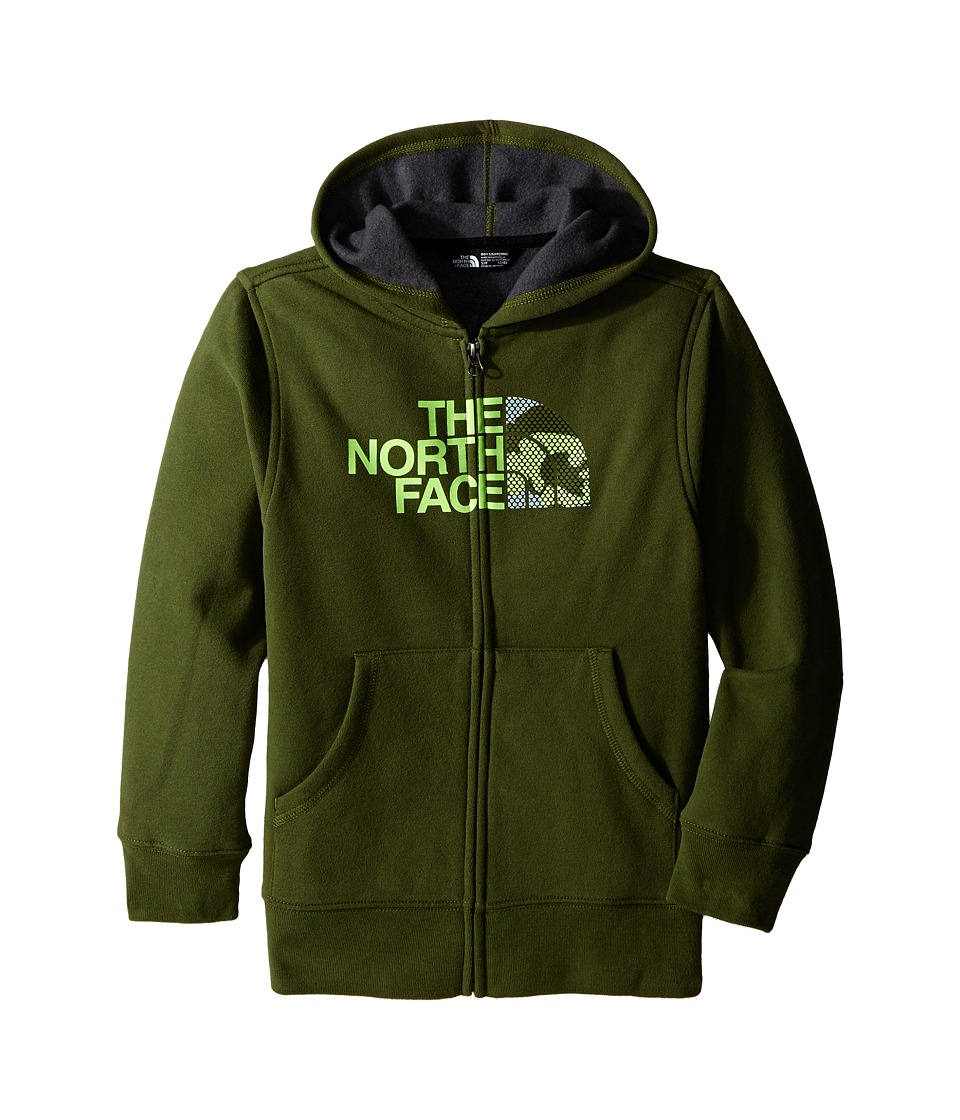 The North Face Kids - Logowear Full Zip Hoodie (Little Kids/Big Kids) (Terrarium Green) Boy's Sweatshirt
