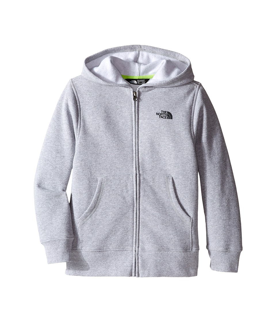 The North Face Kids - Logowear Full Zip Hoodie (Little Kids/Big Kids) (TNF Light Grey Heather/Mid Grey) Boy's Sweatshirt