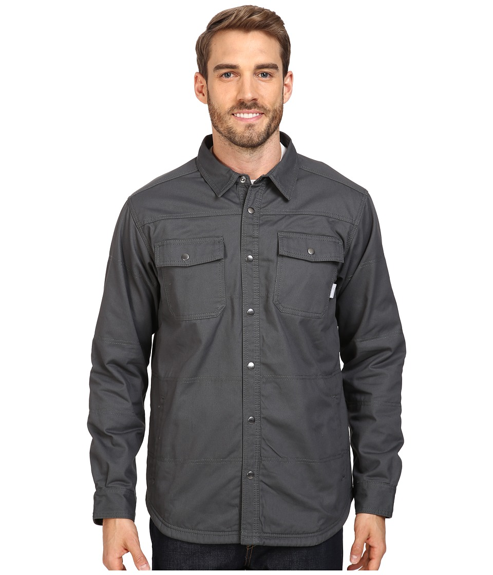 Columbia - Log Vista Shirt Jacket (Grill/Red Buffalo Plaid) Men's Long Sleeve Button Up