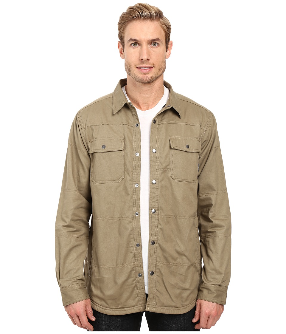 Columbia - Log Vista Shirt Jacket (Flax/Grey Buffalo Plaid) Men's Long Sleeve Button Up