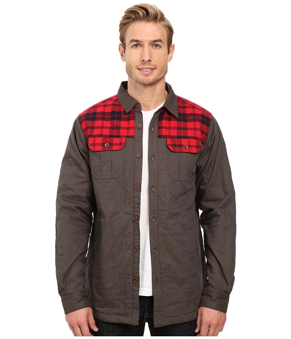 Columbia - Kline Falls Shirt Jacket (Buffalo/Mountain Red Plaid) Men's Long Sleeve Button Up