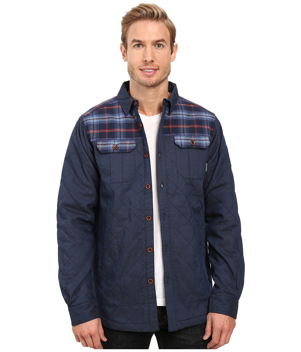 Columbia - Kline Falls Shirt Jacket (Collegiate Navy/Collegiate Navy Plaid) Men's Long Sleeve Button Up