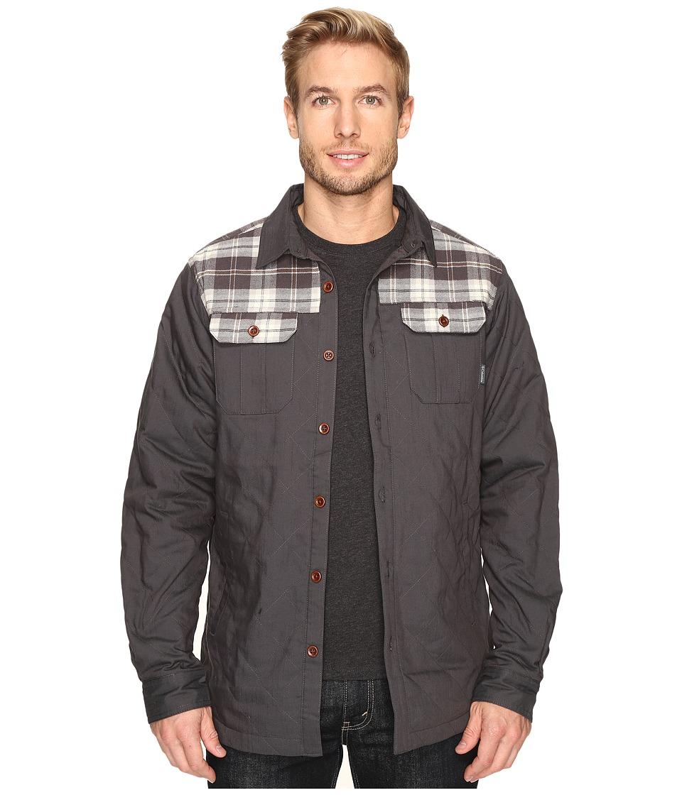 Columbia - Kline Falls Shirt Jacket (Shark/Shark Plaid) Men's Long Sleeve Button Up