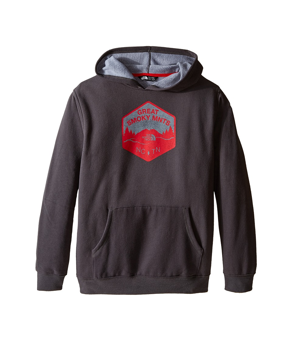 The North Face Kids - Logowear Pullover Hoodie (Little Kids/Big Kids) (Graphite Grey/TNF Red) Boy's Sweatshirt