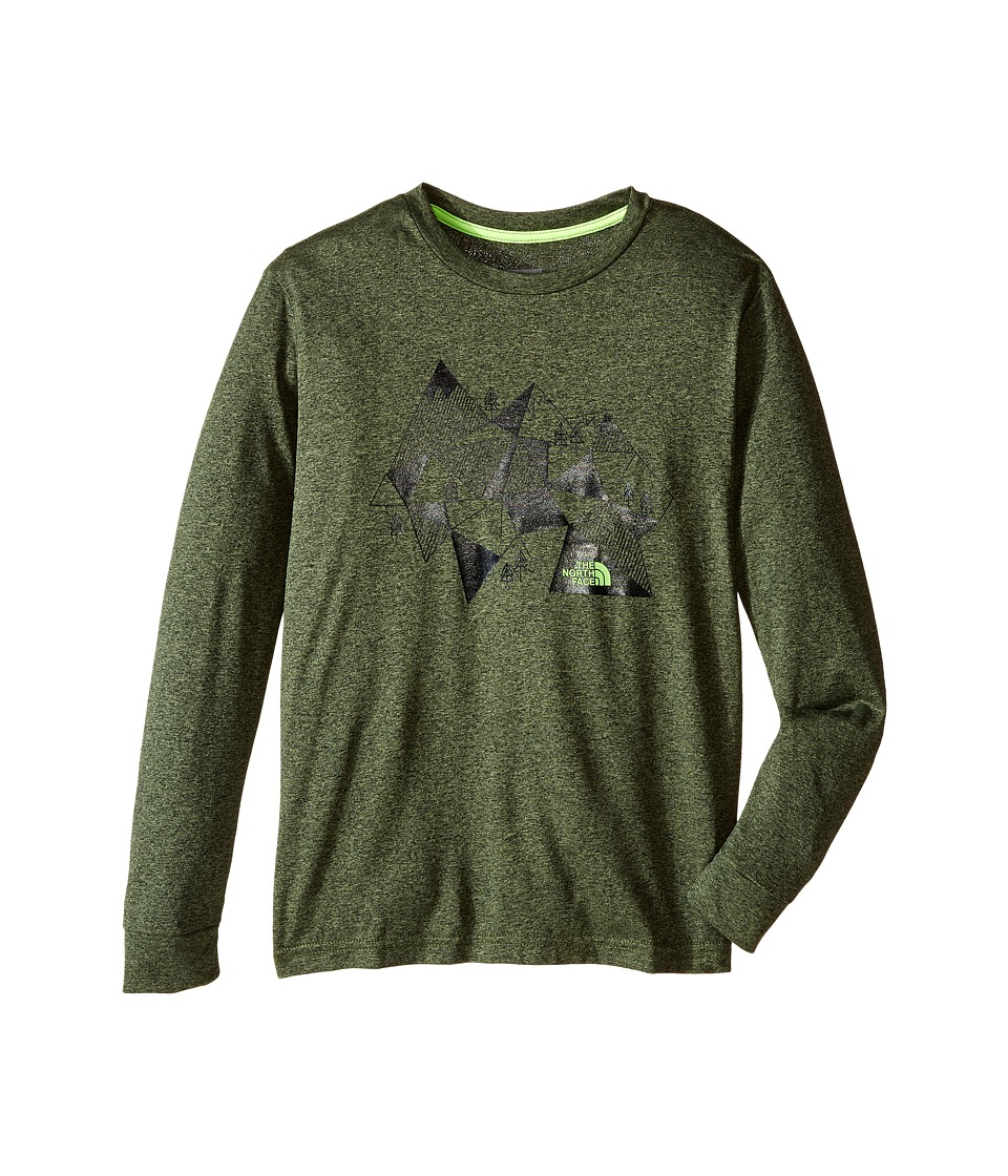 The North Face Kids - Long Sleeve Reaxion Tee (Little Kids/Big Kids) (Terrarium Green Heather) Boy's Long Sleeve Pullover