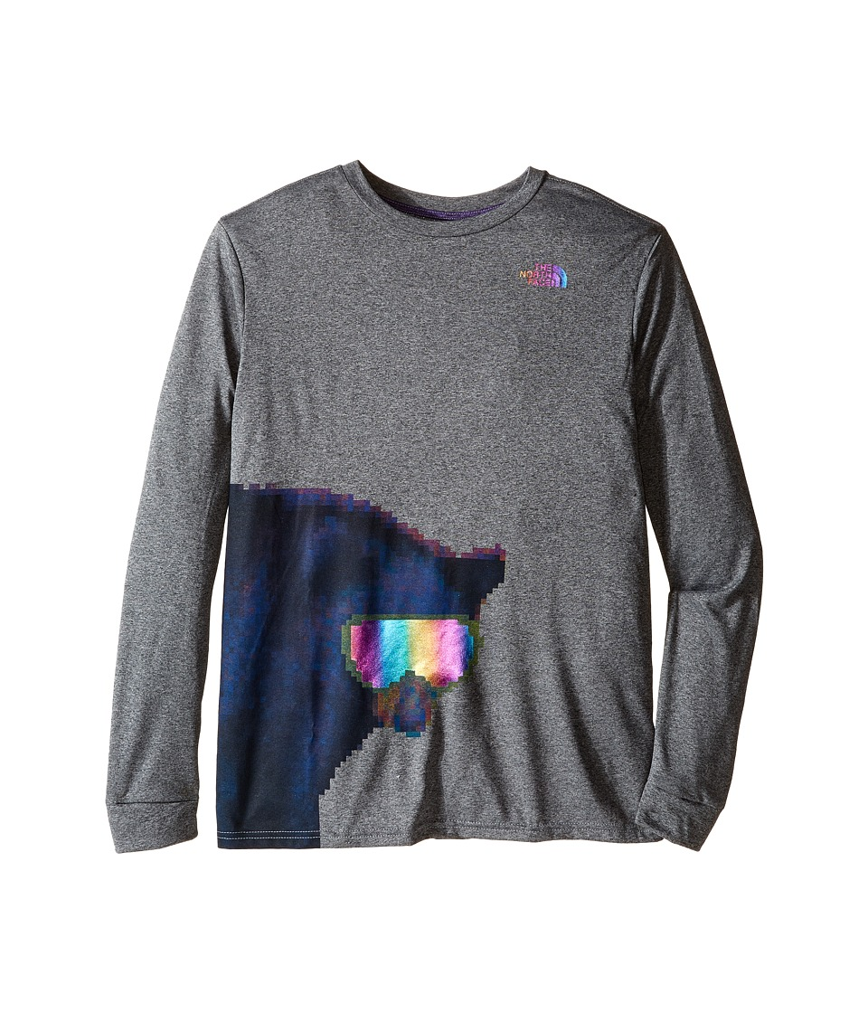 The North Face Kids - Long Sleeve Reaxion Tee (Little Kids/Big Kids) (TNF Medium Grey Heather/Cosmic Blue) Boy's Long Sleeve Pullover