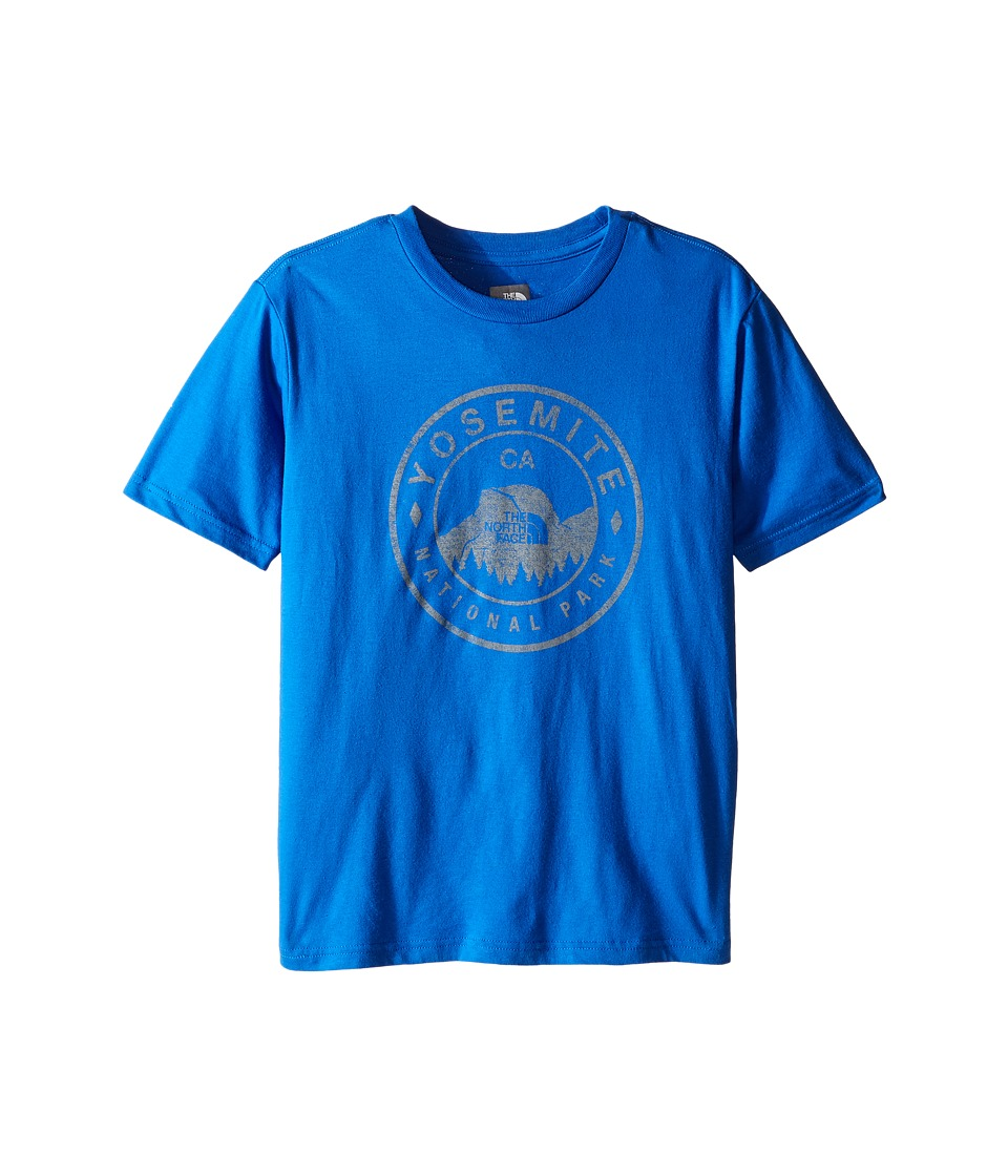 The North Face Kids - Short Sleeve Graphic Tee (Little Kids/Big Kids) (Jake Blue/Mid Grey) Boy's Clothing