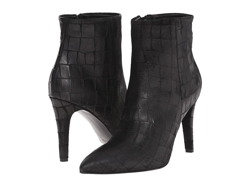 Massimo Matteo Croc Heel Bootie (Black) Women