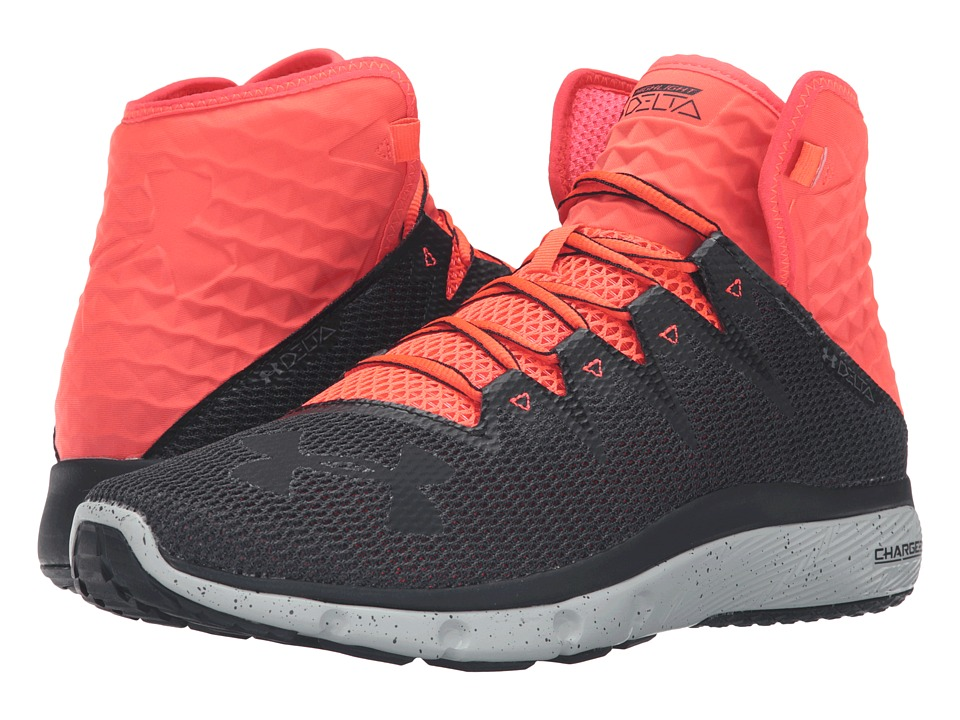 Under Armour - UA Highlight Delta (Stealth Gray/Bolt Orange/Stealth Gray) Men's Running Shoes