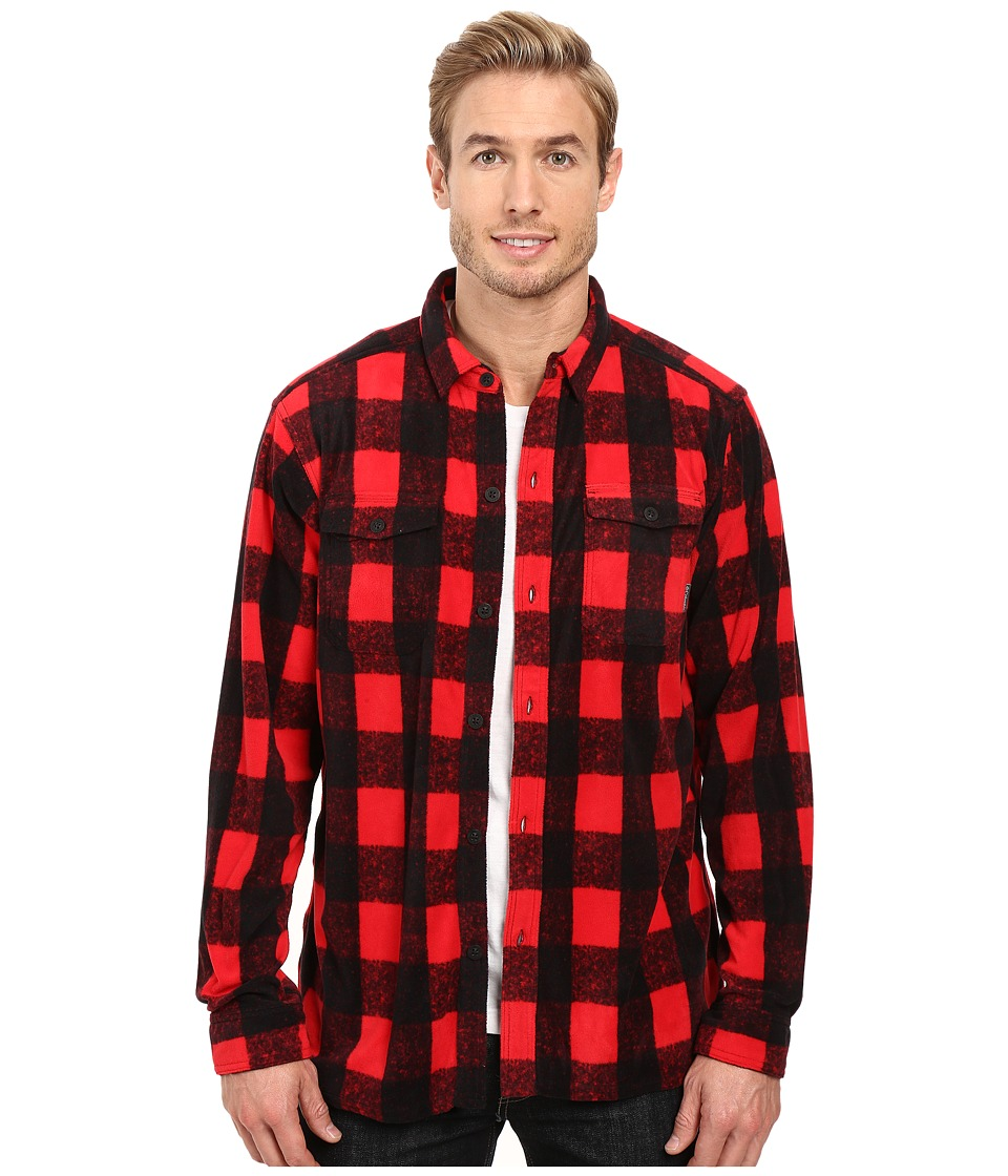 Columbia - Forest Park Printed Overshirt (Mountain Red Buffalo Plaid) Men's Long Sleeve Button Up