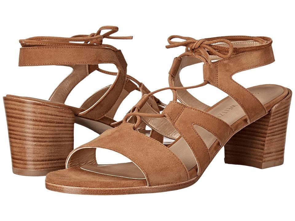 Stuart Weitzman - Tiegirl with Chorus Heel (Camel Suede) Women's Shoes