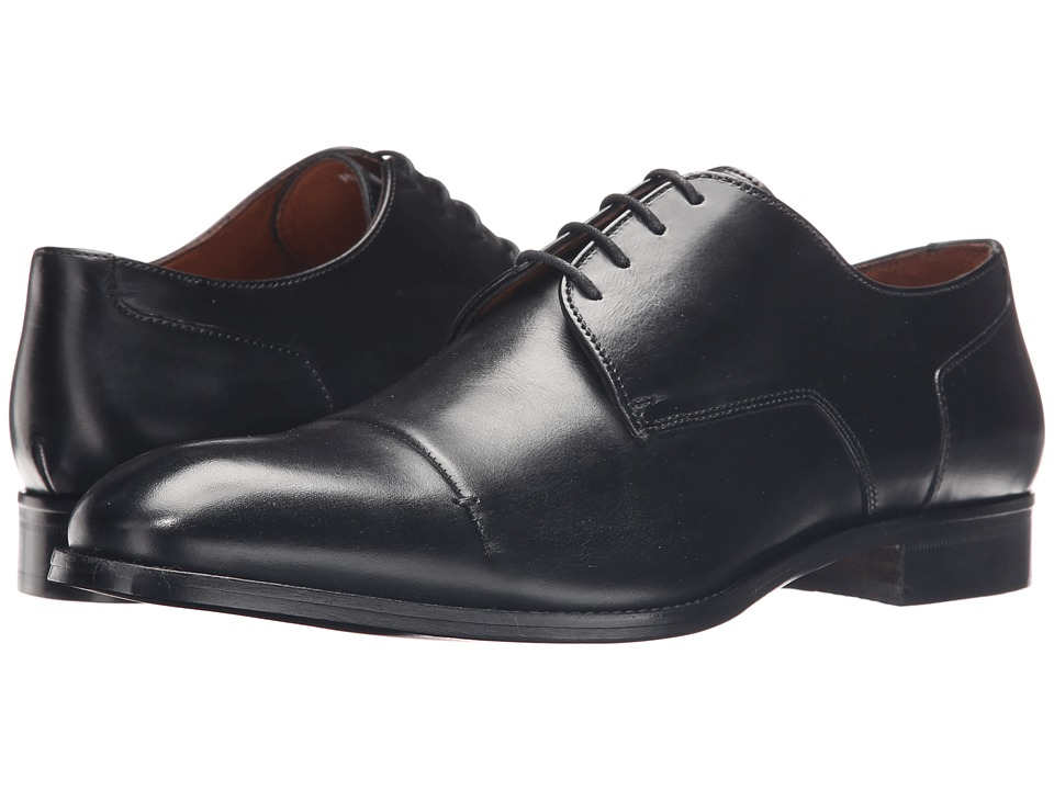 Massimo Matteo - 4-Eye Cap Toe 16 (Black) Men's Lace Up Cap Toe Shoes