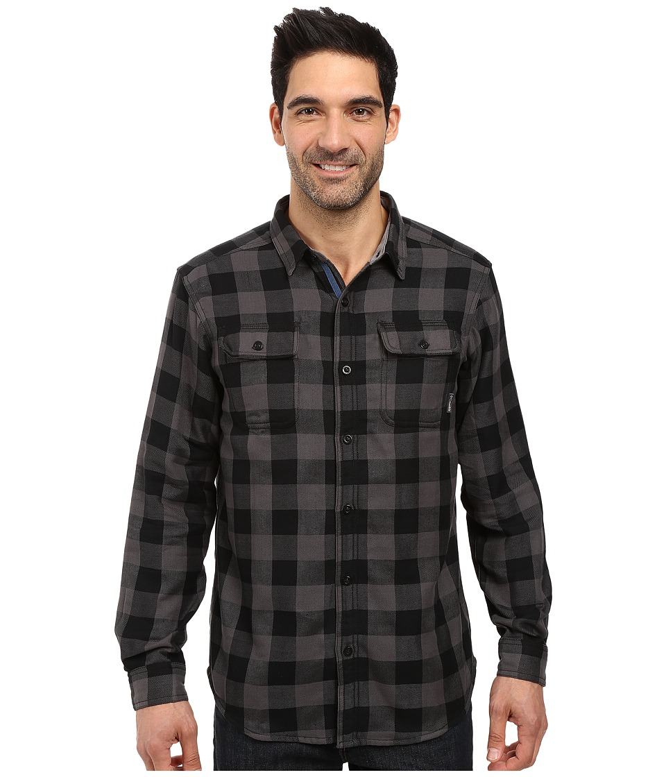 Columbia - Hoyt Peak Long Sleeve Shirt (Black Plaid) Men's Long Sleeve Button Up
