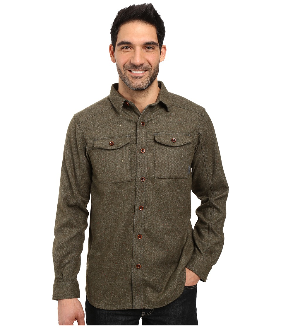Columbia - Sage Butte Long Sleeve Shirt (Deep Green) Men's Long Sleeve Button Up