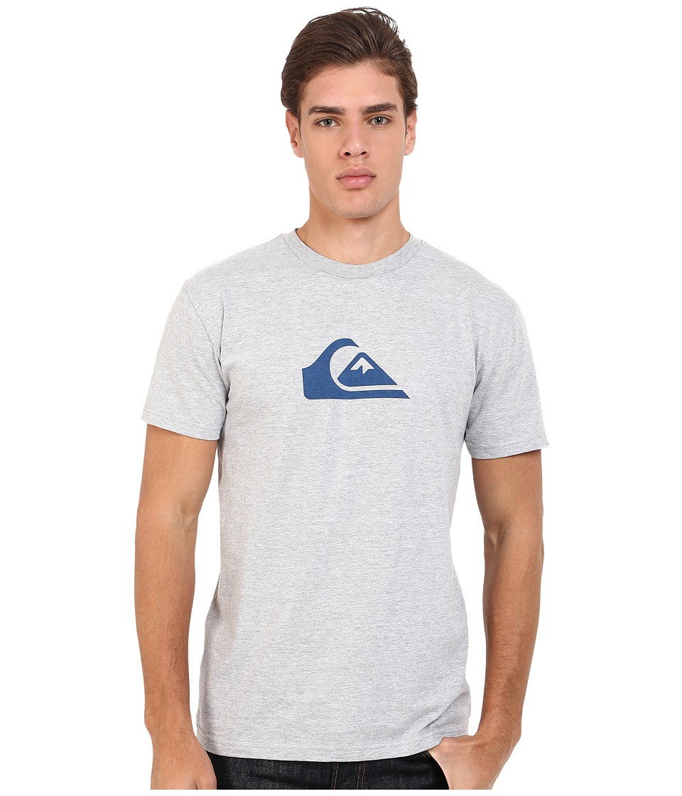 Quiksilver - Everyday Mountain Wave Tee (Athletic Heather) Men's Short Sleeve Pullover