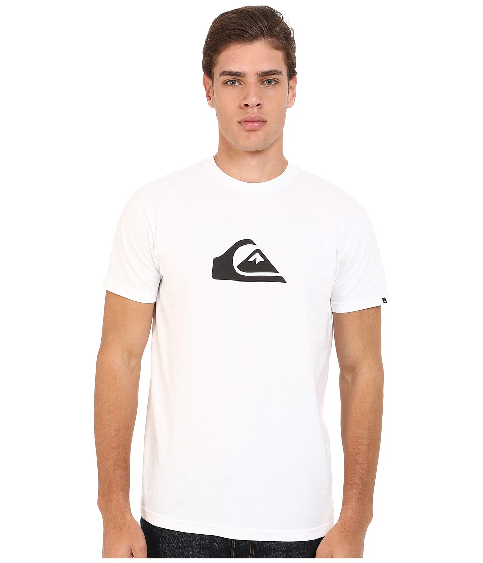 Quiksilver - Everyday Mountain Wave Tee (White) Men's Short Sleeve Pullover