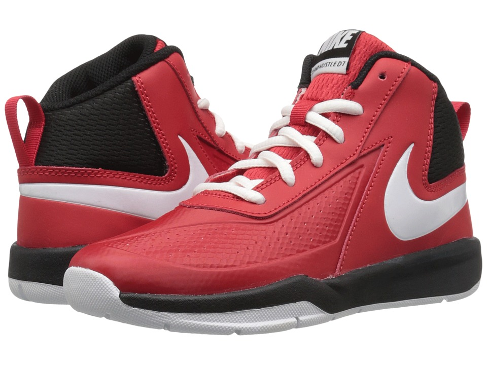 Nike Kids - Team Hustle D 7 (Little Kid) (University Red/Black/White) Boys Shoes