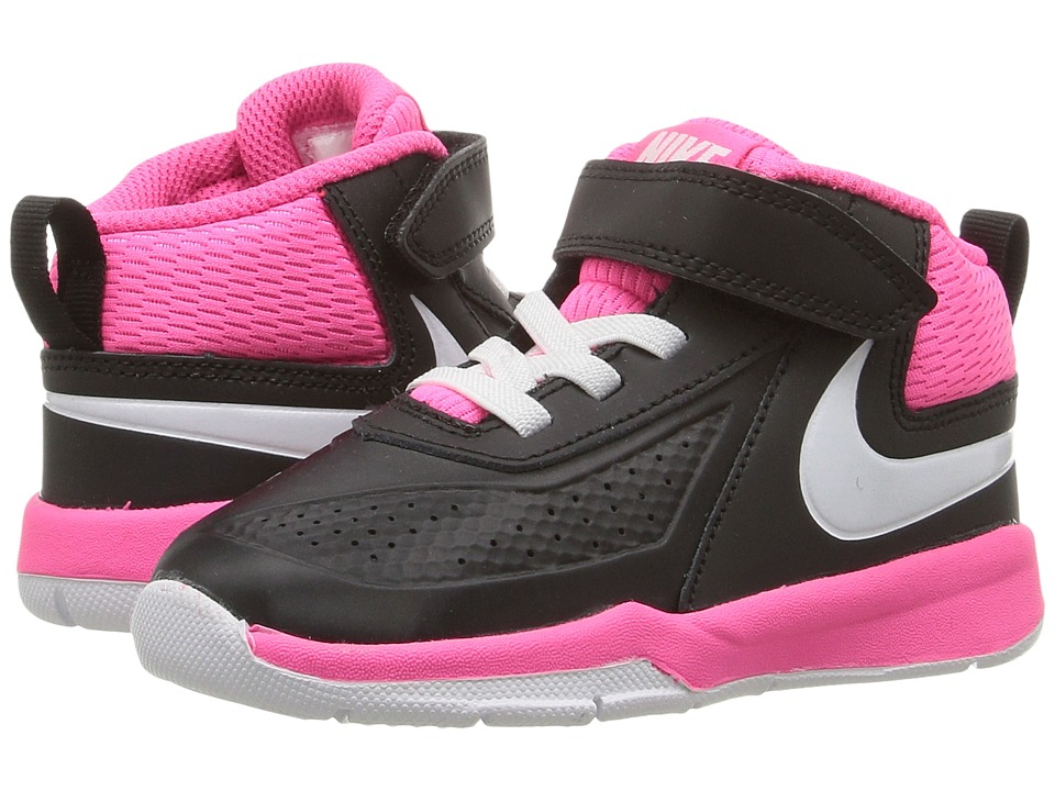Nike Kids - Team Hustle D 7 (Infant/Toddler) (Black/Hyper Pink/White) Girls Shoes