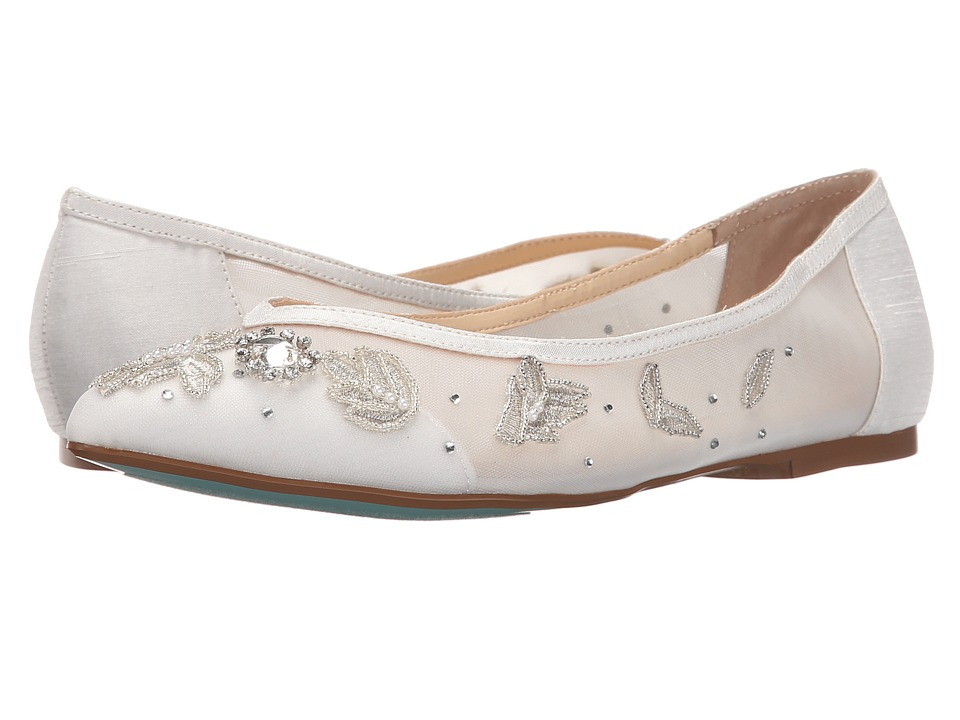 Blue by Betsey Johnson - Adele (Ivory) Women's Flat Shoes
