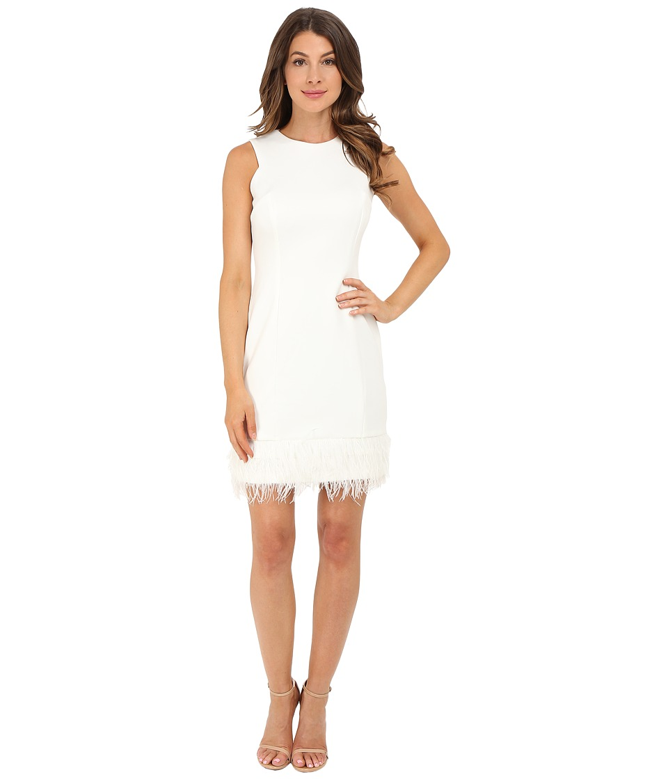 rsvp Anna Feather Trim Dress (Ivory) Women