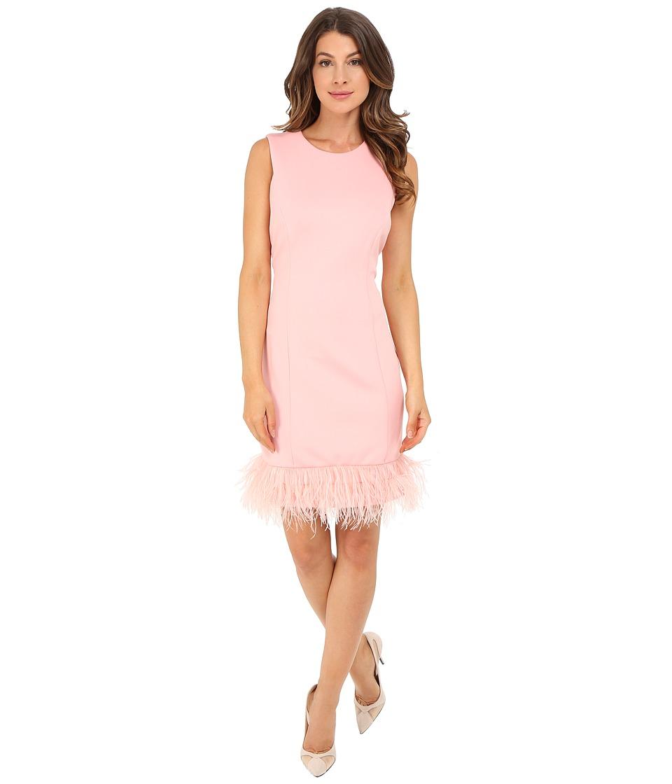 rsvp - Anna Feather Trim Dress (Pink) Women's Dress