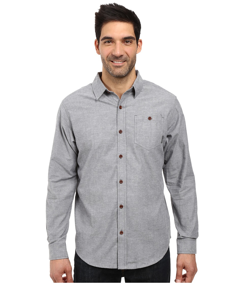 Columbia - Boulder Ridge Long Sleeve Shirt (Graphite) Men's Long Sleeve Button Up