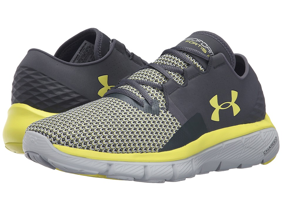Under Armour - UA Speedform Fortis 2 (Stealth Gray/Overcast Gray/Flash Light) Men's Running Shoes