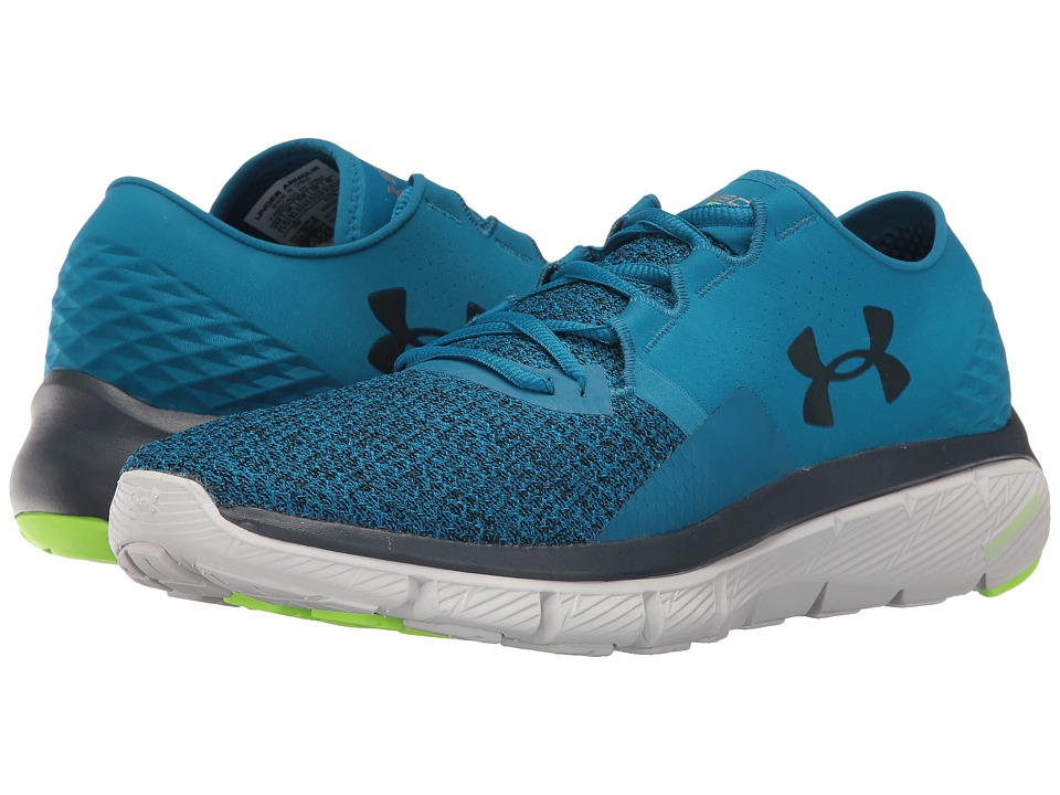 Under Armour - UA Speedform Fortis 2 TXTR (Black/Stealth Gray/Red) Men's Running Shoes