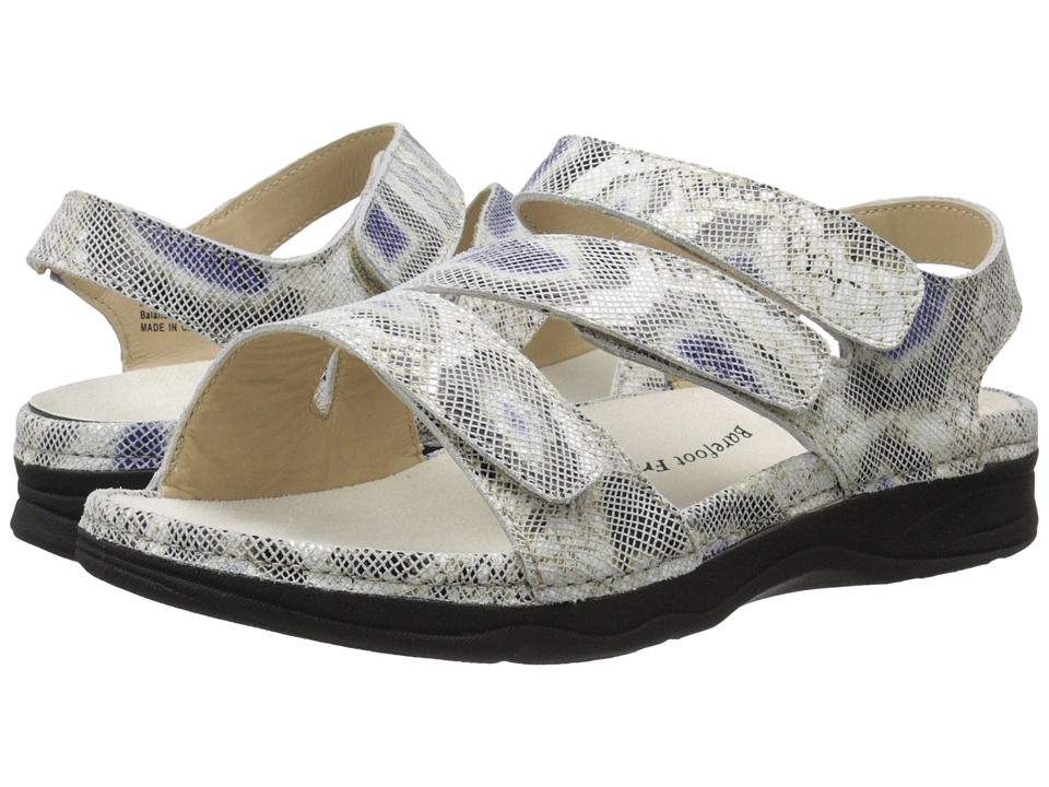 Drew - Angela (Beige Multi Python Print Leather) Women's Sandals