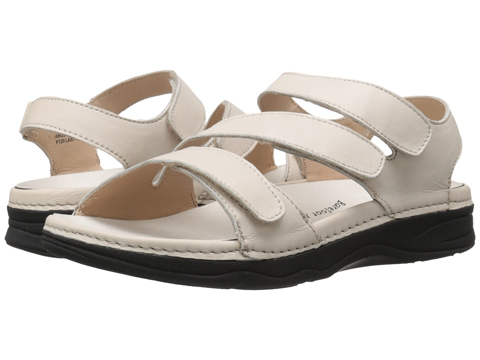 Drew - Angela (Bone Smooth Leather) Women's Sandals