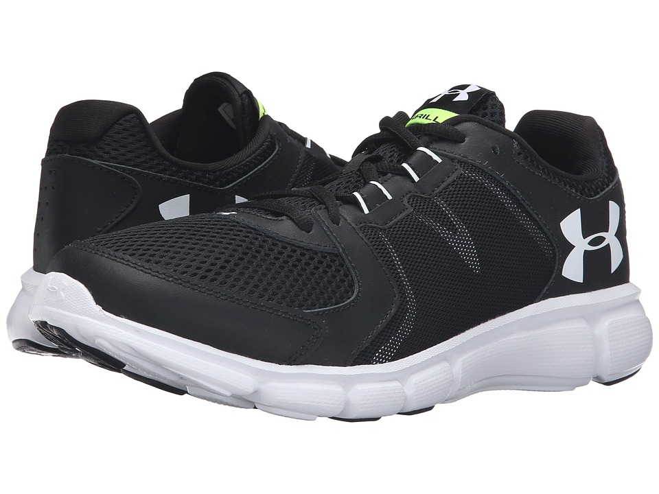 Under Armour - UA Thrill 2 (Black/White/White) Men's Running Shoes